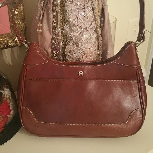 581fe8a75c Etienne Aigner Handbags - Vintage Etienne Aigner Brown Leather Purse Shoulde